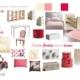 Planche d'ambiance chambre fille par Virginie Vaudenay décoratrice UFDI Couleur de vie Bué en Sancerre dans le Cher (18)