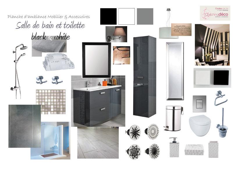 Salle de bain black & white