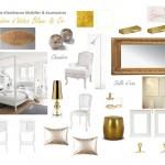Chambre d'hôtes blanc & or Vallenay