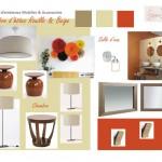 Chambre d'hôtes rouille & beige Vallenay