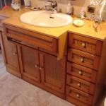 Salle de bain cuir/terracotta AVANT Sancerrois 18