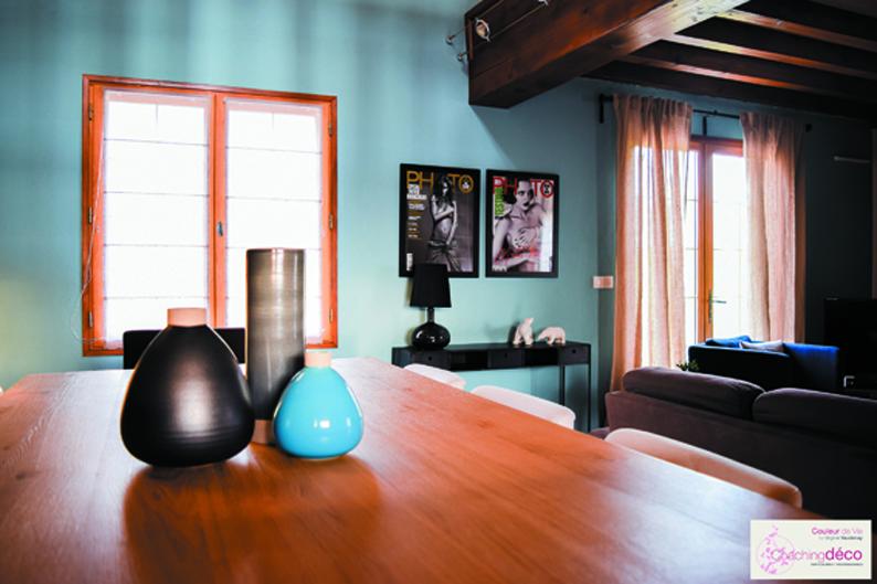 Salon Salle A Manger Bleu : Salon salle à manger bleu ardoise coaching décoration