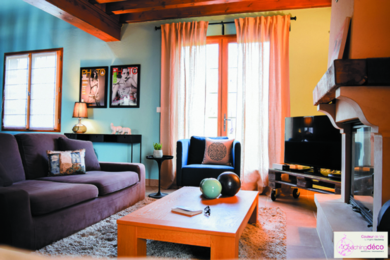 Salon salle manger bleu ardoise coaching d coration for Coaching decoration interieur