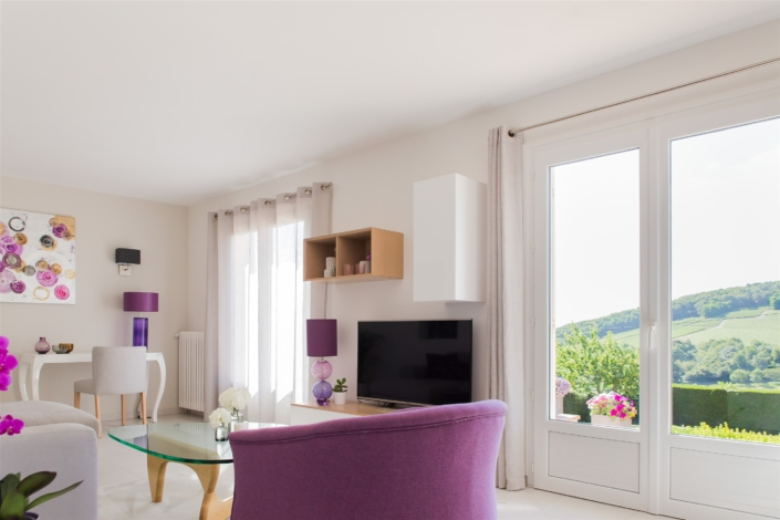 salon rénovation maison Sancerre par virginie vaudenay décoratrice ufdi couleur de vie Bué en sancerre dans le cher (18)