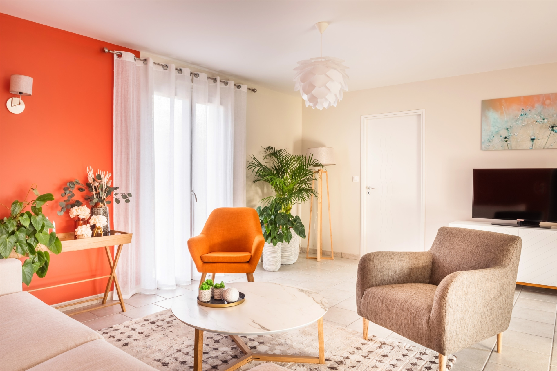 salon salle à manger maison neuve Boulleret par virginie vaudenay bué en sancerre